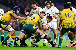 Ben Te'o of England is challenged by Jermaine Ainsley of Australia - Mandatory by-line: Dougie Allward/JMP - 24/11/2018 - RUGBY - Twickenham Stadium - London, England - England v Australia - Quilter Internationals