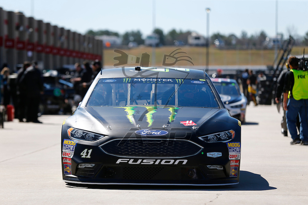 March 03, 2017 - Hampton, Georgia, USA: The Monster Energy NASCAR Cup Series teams take to the track to practice for the Folds of Honor QuikTrip 500 at Atlanta Motor Speedway in Hampton, Georgia.