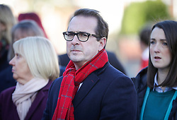 © Licensed to London News Pictures. 01/12/2017. Connah's Quay, UK. Labour MP OWEN SMITH attends the funeral of Carl Sargeant , who died four days after stepping down from his post in the Welsh Government after unspecified allegations of sexual harassment were made against him. He had denied the allegations. Photo credit: Joel Goodman/LNP