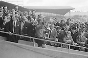 GAA All Ireland Senior Football Final Kerry v. Down 22nd September 1968 Croke Park...Joe Lennon Captian of the Down Team Holds the Sam Maguire Cup up to the Crowds ..*** Local Caption *** It is important to note that under the COPYRIGHT AND RELATED RIGHTS ACT 2000 the copyright of these photographs are the property of the photographer and they cannot be copied, scanned, reproduced or electronically stored in any form whatsoever without the written permission of the photographer