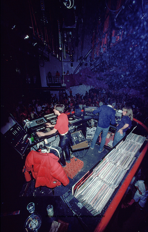 DJ's booth at Studio 54, New York, NY