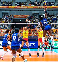 19-10-2018 JPN: Semi Final World Championship Volleyball Women day 18, Yokohama<br /> China - Netherlands / Paola Ogechi Egonu #18 of Italy on matchpoint