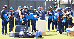 July 6, 2018 - Sri Lanka - Sri Lanka Cricket Batting Coach Thilan Samaraweera (C) talks with team members during a practice session at the R. Premadasa Stadium in Colombo on July 6th of 2018. Sri Lanka and South Africa will play two Tests, five 50-over One-Day Internationals (ODIs), and one T20 in Sri Lanka between July 12 and August 14. The first Test between South African and Sri Lanka will be played on July 12 at the Galle International Cricket Stadium in Galle. (Credit Image: © Lahiru Harshana/Pacific Press via ZUMA Wire)