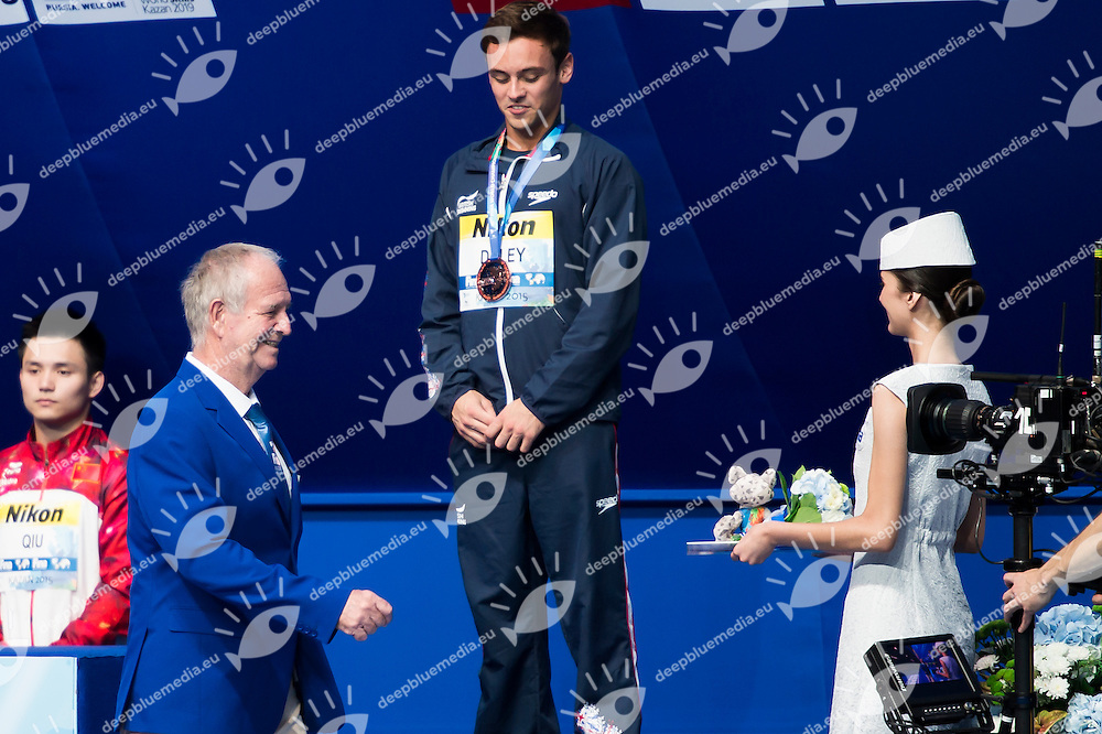 Medal Ceremony with Klaus Di Biasi and Fina Delegates<br /> Diving - Men's 10m Platform final<br /> Day 10 02/08/2015<br /> XVI FINA World Championships Aquatics Swimming<br /> Kazan Tatarstan RUS July 24 - Aug. 9 2015 <br /> Photo Giorgio Perottino/Deepbluemedia/Insidefoto