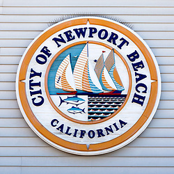 City of Newport Beach California sign in Orange County Southern California