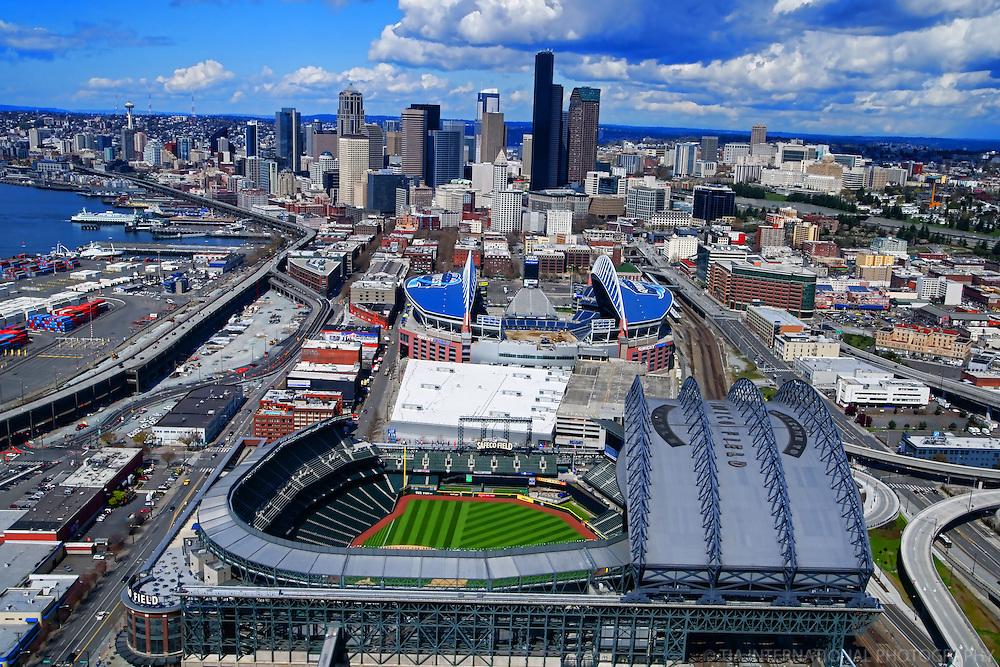 Seattle Sports Arenas: Safeco & CenturyLink (Qwest) Fields.