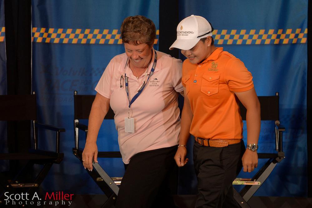 Shophia Sheridan during the card ceremony at LPGA International on Sept. 30, 2013 in Daytona Beach, Florida. <br /> <br /> <br /> &copy;2013 Scott A. Miller