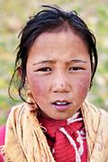High Altitude village of Hikkim village of Spiti in Himachal Pradesh, India