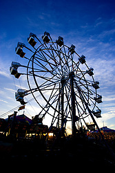 July 21, 2019 - Silhouette Of Ferris Wheel (Credit Image: © Richard Wear/Design Pics via ZUMA Wire)