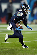 Tennessee Titans rookie wide receiver Cameron Batson (17) returns a punt during the week 14 regular season NFL football game against the Jacksonville Jaguars on Thursday, Dec. 6, 2018 in Nashville, Tenn. The Titans won the game 30-9. (©Paul Anthony Spinelli)
