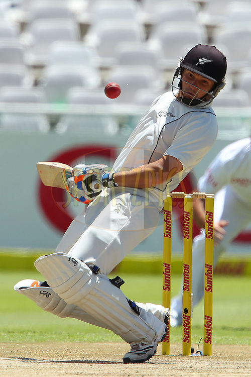 BJ Watling avoids a delivery from Dale Steyn during the 3rd day of the 1st Sunfoil Test match between South Africa and New Zealand held at Newlands Stadium in Cape Town, South Africa on the 4th January 2013..Photo by Ron Gaunt/SPORTZPICS .