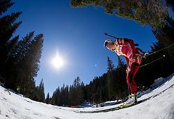 BERGER Tora of Norway competes during Women 12.5 km Mass Start competition of the e.on IBU Biathlon World Cup on Sunday, March 9, 2014 in Pokljuka, Slovenia. Photo by Vid Ponikvar / Sportida