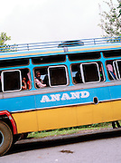 Bus waiting for the ferry, Middle Andaman Island