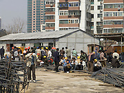 construction workers during there lunch break China Beijing
