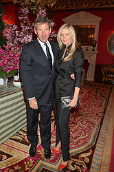 AMANDA WAKELEY and HUGH MORRISON at the Tatler Best of British party in association with Jaegar held at The Ritz, Piccadilly, London on 28th April 2015.
