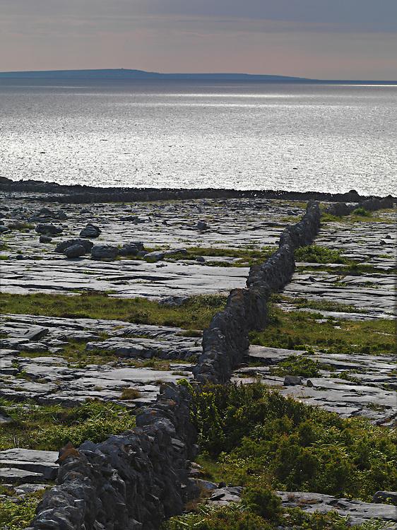 Ireland Burren region Ailladie coast Karst limestone landscape