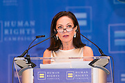 Margaret Russell, Architectural Digest Editor in Chief, accepting the HRC Ally for Equality Award at theHRC's Greater NY Gala 2014 held at the Waldorf=Astoria in New York City on Saturday, February 8, 2014. (Photo: JeffreyHolmes.com)