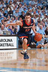 07 February 2009: Virginia Cavaliers guard Sammy Zeglinski (13) during a 76-61 loss to the North Carolina Tar Heels at the Dean Smith Center in Chapel Hill, NC.