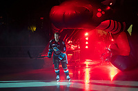 KELOWNA, CANADA - SEPTEMBER 22:  Jack Cowell #8 of the Kelowna Rockets enters the ice against the Kamloops Blazers on September 22, 2018 at Prospera Place in Kelowna, British Columbia, Canada.  (Photo by Marissa Baecker/Shoot the Breeze)  *** Local Caption ***