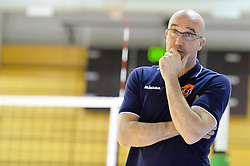 Bogdan Kotnik,head coach of ACH during volleyball game between OK Panvita Pomgrad and ACH Volley in 2nd semifinal match of  Slovenian National Championship 2015, on April 5, 2015 in Murska Sobota, Slovenia. Photo by Mario Horvat / Sportida