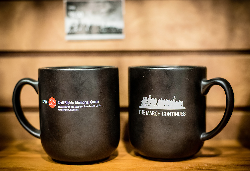 MONTGOMERY, AL -- 5/25/17 -- The Civil Rights Memorial Center is located in the former headquarters of the Southern Poverty Law Center. Dedicated to telling the story of the Civil Rights Movement, the museum sees 40,000 visitors a year. A range of items are for sale in the gift shop, including a postcard featuring SPLC co-founder Morris Dees standing at the memorial.<br /> Civil Rights attorney Morris Dees co-founded the Southern Poverty Law Center in 1971. The group has taken on the Ku Klux Klan and fought for against hate for decades, but is now facing criticism that it has labeled some groups without just cause..&hellip;by Andr&eacute; Chung #_AC17647