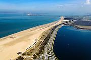 Nederland, Zeeland, Gemeente Veere, 01-04-2016; Vrouwenpolder, Veerse Gatdam. Dam waarmee het Veerse Gat is gesloten, een van de Deltawerken. Tussen Walcheren en Noord-Beveland.<br /> Veerse gat dam, one of the Deltaworks. <br />  <br /> luchtfoto (toeslag op standard tarieven);<br /> aerial photo (additional fee required);<br /> copyright foto/photo Siebe Swart