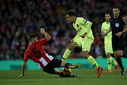 February 10, 2019 - Bilbao, Vizcaya, Spain - Coutinho of Barcelona and Yeray Alvarez of Athletic during the week 23 of La Liga between Athletic Club and FC Barcelona at San Mames stadium on February 10 2019 in Bilbao, Spain. (Credit Image: © Jose Breton/NurPhoto via ZUMA Press)