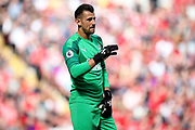 Newcastle United goalkeeper Martin Dubravka (1) during the Premier League match between Liverpool and Newcastle United at Anfield, Liverpool, England on 14 September 2019.