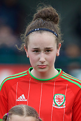 NEWPORT, WALES - Friday, April 1, 2016: Wales' Hannah Davies lines-up before the game against Republic of Ireland during Day 1 of the Bob Docherty International Tournament 2016 at Dragon Park. (Pic by David Rawcliffe/Propaganda)