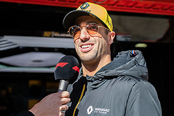February 18, 2019 - Montmelo, BARCELONA, Spain - Circuit de Barcelona Catalunya, BARCELONA, 18 of february 2019. Daniel Ricciardo attending media during the first day of Test at Circuit de Barcelona Catalunya (Credit Image: © AFP7 via ZUMA Wire)