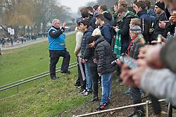 01.03.2014, Weserstadion, Bremen, GER, 1. FBL, SV Werder Bremen vs Hamburger SV, 23. Runde, im Bild ein Fanbetreuer der Polizei im Gespraech mit Bremer Anhaengern am Osterdeich // ein Fanbetreuer der Polizei im Gespraech mit Bremer Anhaengern am Osterdeich during the German Bundesliga 23th round match between SV Werder Bremen and Hamburger SV at the Weserstadion in Bremen, Germany on 2014/03/01. EXPA Pictures © 2014, PhotoCredit: EXPA/ Andreas Gumz<br /> <br /> *****ATTENTION - OUT of GER*****