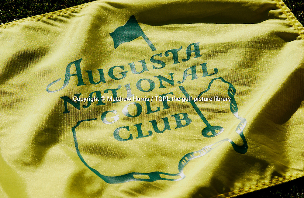 US MASTERS 2005,Augusta National,Augusta,Georgia, USAThe famous flag that flutters from each of the 18 greens.