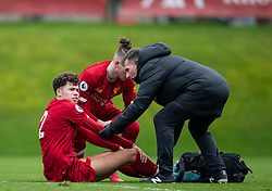 LIVERPOOL, ENGLAND - Monday, February 24, 2020: Liverpool's Neco Williams receives treatment for an injury during the FA Premier League match between Liverpool FC and West Ham United FC at Anfield. (Pic by David Rawcliffe/Propaganda)