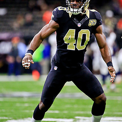 Nov 13, 2016; New Orleans, LA, USA;  New Orleans Saints cornerback Delvin Breaux (40) before a game against the Denver Broncos at the Mercedes-Benz Superdome. Mandatory Credit: Derick E. Hingle-USA TODAY Sports