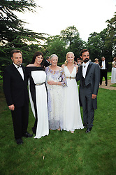 Left to right, FRANCO NERO, ANJELICA HUSTON, VANESSA REDGRAVE, JOELY RICHARDSON and EVGENY LEBEDEV at the Raisa Gorbachev Foundation Party held at Stud House, Hampton Court Palace on 5th June 2010.  The night is in aid of the Raisa Gorbachev Foundation, an international fund fighting child cancer.