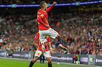 Football - 2018 / 2019 UEFA Nations League A - Group Four: England vs. Spain<br /> <br /> Rodrigo Moreno (Spain) celebrates scoring the second goal for Spain at Wembley Stadium.<br /> <br /> COLORSPORT/DANIEL BEARHAM