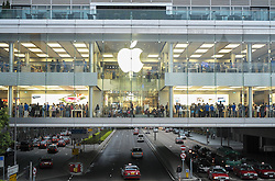 View of Apple store in Hong Kong