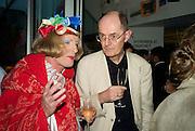 GRAYSON PERRY; RICHARD CORK, The Hayward Gallery 40th birthday Gala. hayward Gallery. South Bank. 9 July 2008 *** Local Caption *** -DO NOT ARCHIVE-© Copyright Photograph by Dafydd Jones. 248 Clapham Rd. London SW9 0PZ. Tel 0207 820 0771. www.dafjones.com.