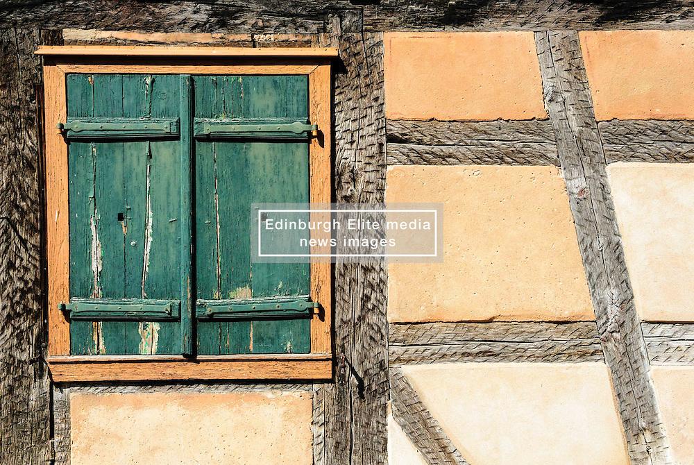 Detail of old half timbered house in Bauxwiller, Alsace, France<br /> <br /> (c) Andrew Wilson | Edinburgh Elite media