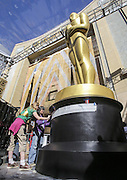 Feb. 24, 2016 - Los Angeles, California, U.S - <br /> <br /> Crew members work on an Oscar Statue for the Oscars in front of the Dolby Theatre in Los Angeles, Wednesday, February 24, 2016. The 88th Academy Awards will be held Sunday, February 28, 2016.<br /> ©Exclusivepix Media