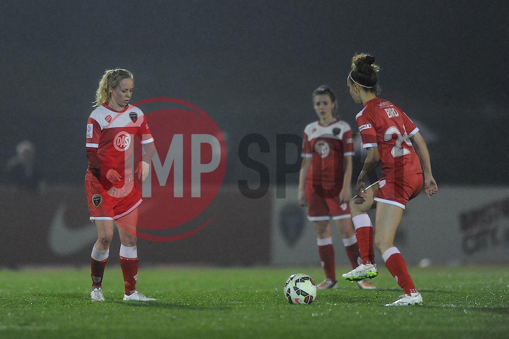 Bristol Academy concede a third goal - Photo mandatory by-line: Dougie Allward/JMP - Mobile: 07966 386802 - 02/04/2015 - SPORT - Football - Bristol - SGS Wise Campus - BAWFC v Chelsea Ladies - Womens Super League
