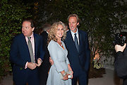 ANGIE RUTHERFORD; MIKE RUTHERFORD, The Cartier Chelsea Flower show dinner. Hurlingham club, London. 20 May 2013.