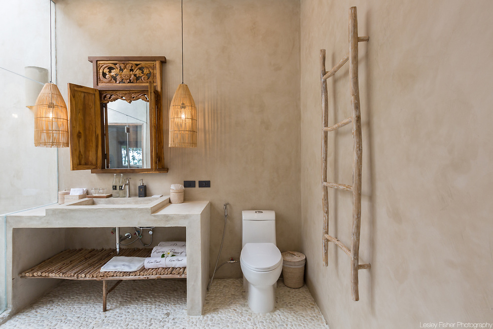 Bathroom of Terrace villa at Karma Beach Resort. A Beach resort located on Bophut Beach, Koh Samui, Thailand