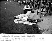 6. a.m. Trinity May Ball. Cambridge. 18 June 1984. Film 84507f5<br />© Copyright Photograph by Dafydd Jones. 66 Stockwell Park Rd. London SW9 0DA. Tel 0171 733 0108