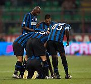 Inter Milan celebrate. 24th October 2009.