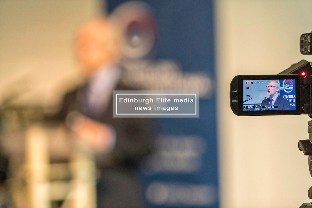 Former First Minister, Henry McLeish,  chairs a series of short talks and debates on the UK's vote to leave the European Union in an event organised by the Centre on Constitutional Change at Dynamic Earth in Edinburgh.<br /> <br /> Pictured: Henry McLeish