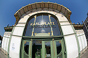 Karlsplatz. Art deco Statdbahnstation by Otto Wagner.