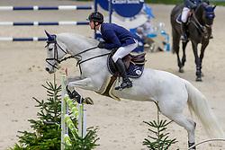 BALSIGER Bryan (SUI), Clouzot de Lassus<br /> Genf - CHI Geneve Rolex Grand Slam 2019<br /> Prix des Communes Genevoises<br /> 2-Phasen-Springen<br /> International Jumping Competition 1m50<br /> Two Phases: A + A, Both Phases Against the Clock<br /> 13. Dezember 2019<br /> © www.sportfotos-lafrentz.de/Stefan Lafrentz