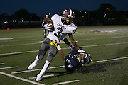 Greece Arcadia receiver Robert Smith breaks past an Eastridge defender during a game at Eastridge High School on Friday, September 2, 2016.