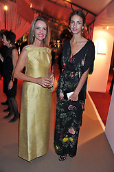 Left to right, SABRINA GUINNESS and the MARCHIONESS OF CHOLMONDELEY at the Raisa Gorbachev Foundation Gala held at the Stud House, Hampton Court, Surrey on 22nd September 22 2011